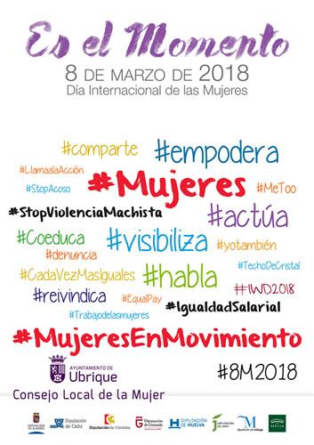 Cartel día internacional de la mujer 2018