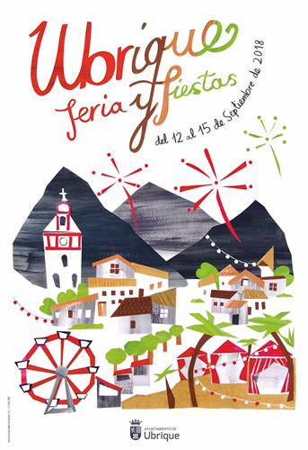 Imagen correspondiente al cartel de feria 2018 de Ubrique