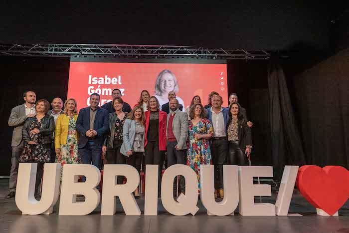 Presentación pública de la candidatura del PSOE de Ubrique con Isabel Gómez a la cabeza