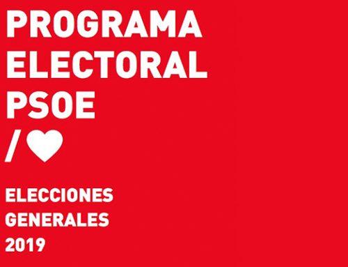 Programa Electoral PSOE / Elecciones Generales 2019