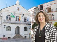Virginia Bazán Calvillo en la Plaza del Ayuntamiento