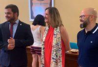 Isabel Gómez con el Delegado de La Junta Andalucía, Miguel Rodríguez