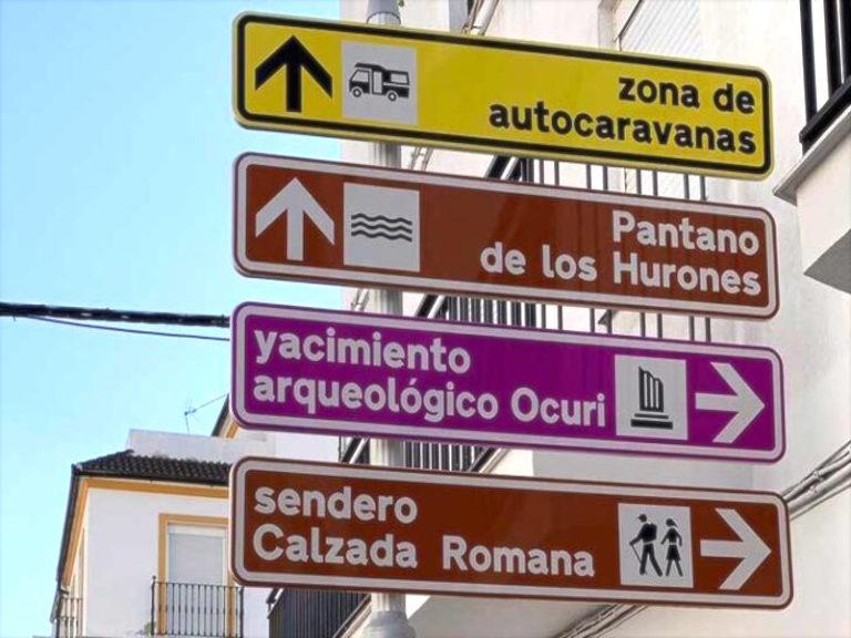 Señalización turística y direccional vial del municipio de Ubrique
