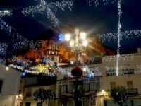 Alumbrado de plaza del Ayuntamiento en Navidad