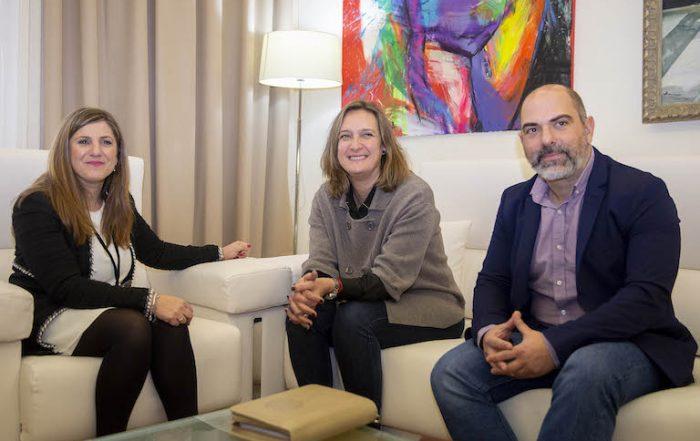 Irene Garcia, Isabel Gomez y Manuel Chacón
